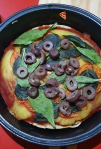 Pizza vegana deliciosa e sem glúten